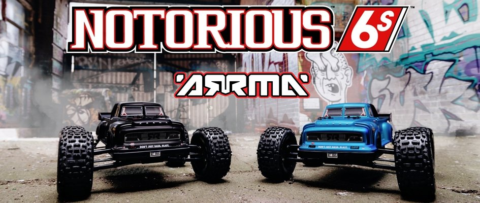 ARRMA NOTORIOUS 6S BLX 4WD RTR 1:8