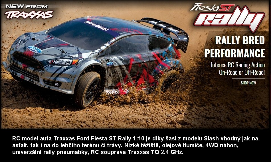 TRAXXAS FORD FIESTA ST RALLY TQ 4WD RTR 1:10