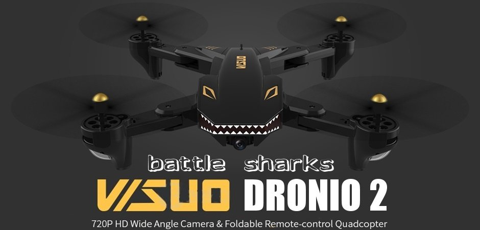 "VISUO DRONIO 2 ""Battle Shark"" FLY COMBO WIFI FPV RTF"