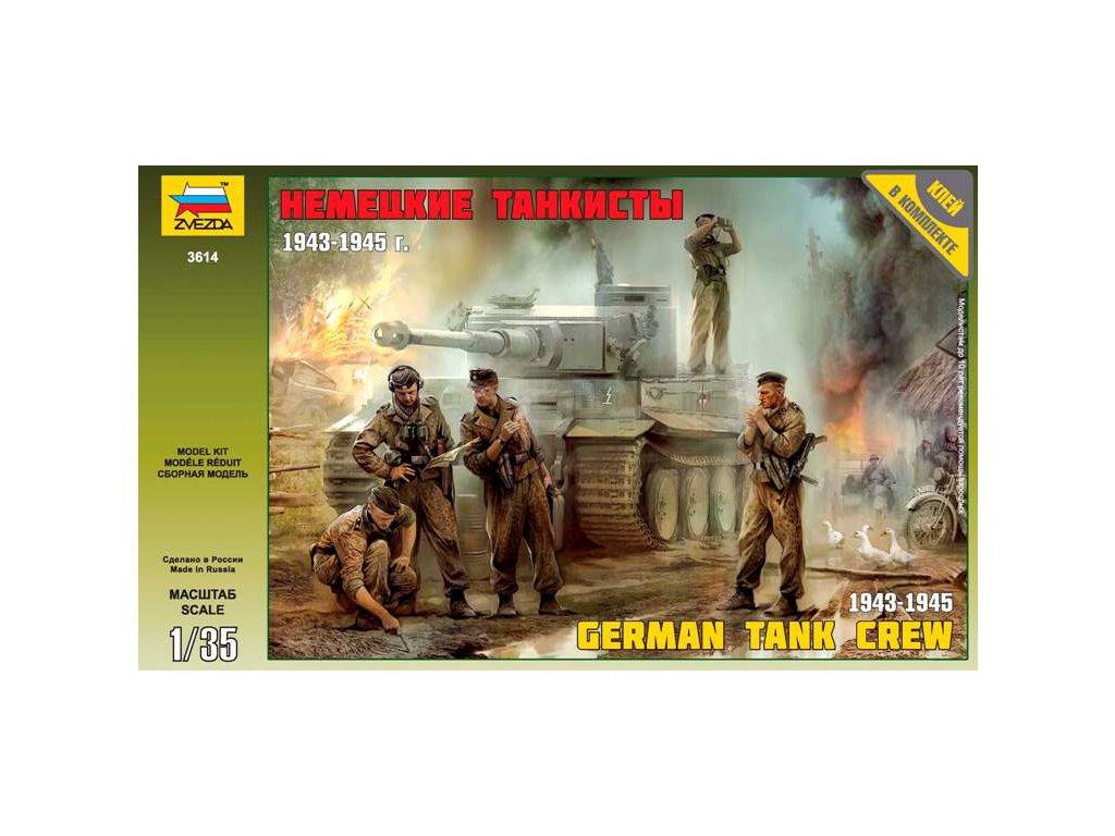 Zvezda figurky - němečtí tankisté 1943-1945 (1:35)
