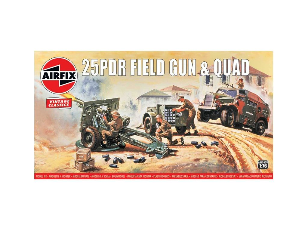 Airfix 25pdr polní zpraň s Quadem (Vintage) (1:76)