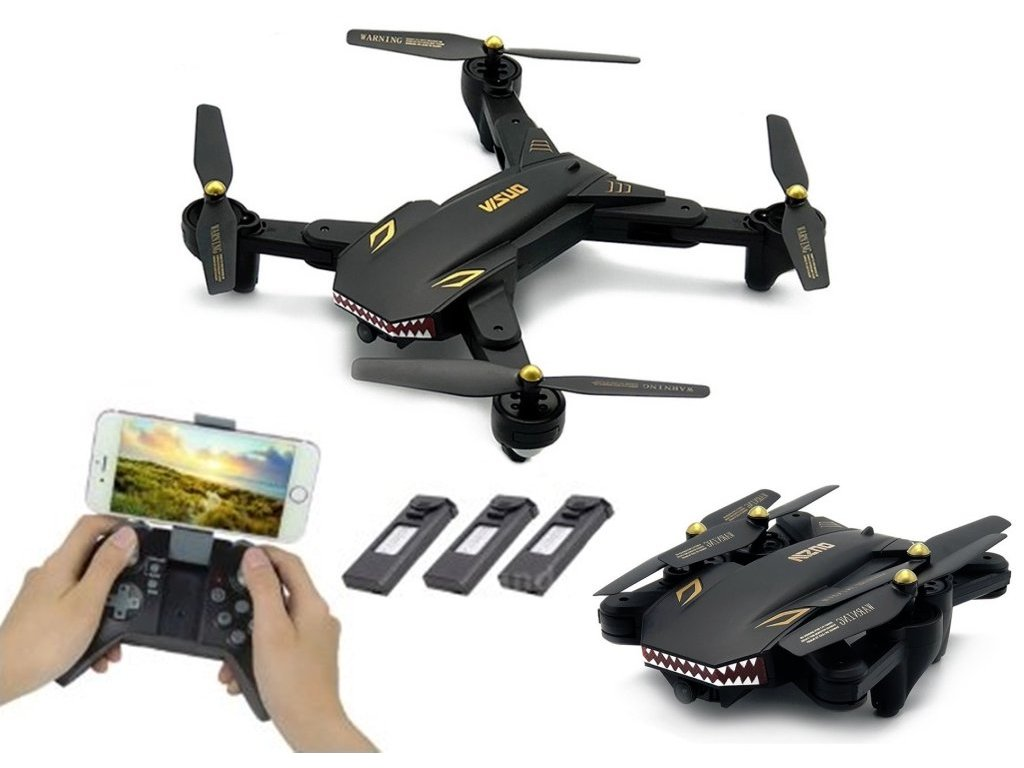 VISUO BATTLE SHARK FLY MORE  (2.4GHz WiFi, HD kamera, 3x baterie)