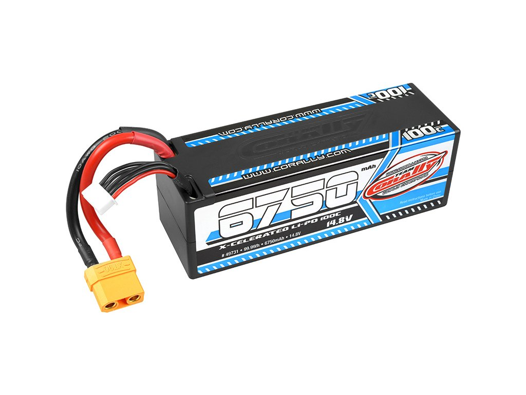 TEAM CORALLY X-CELERATED LIPOL 6750mAh 100C 14.8V