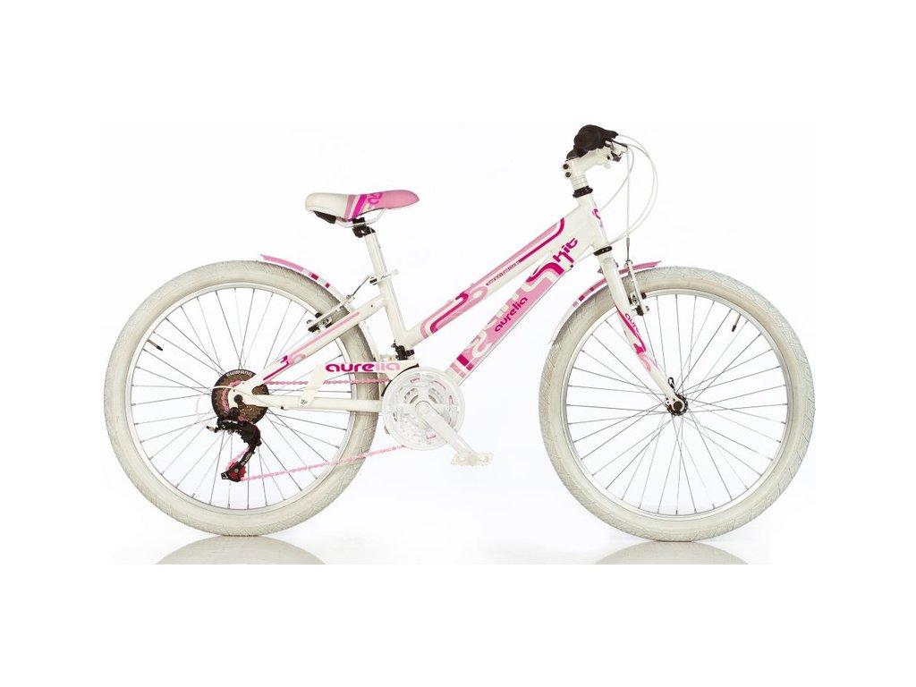 """DINO Bikes - Dětské kolo 24"""" Aurelia Game Kit růžové"""