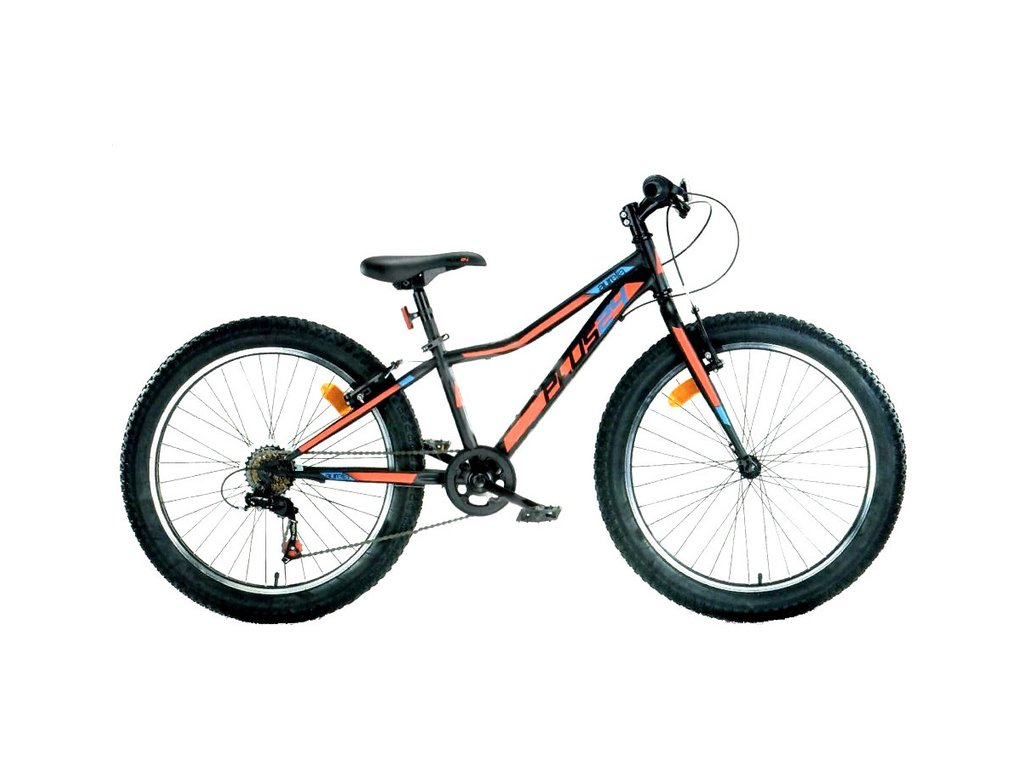 """DINO Bikes - Dětské kolo 24"""" Aurelia 424 černá"""