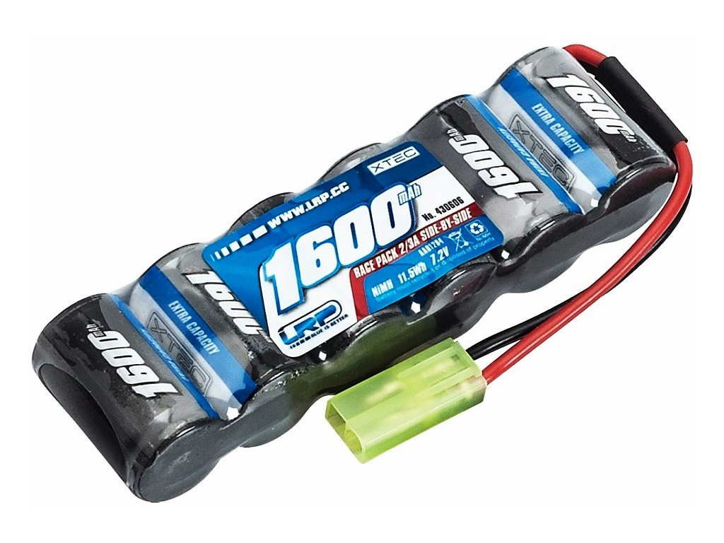 LRP XTEC RACE PACK SIDE-BE SIDE 2/3 Ni-Mh 1600mAh 7.2V