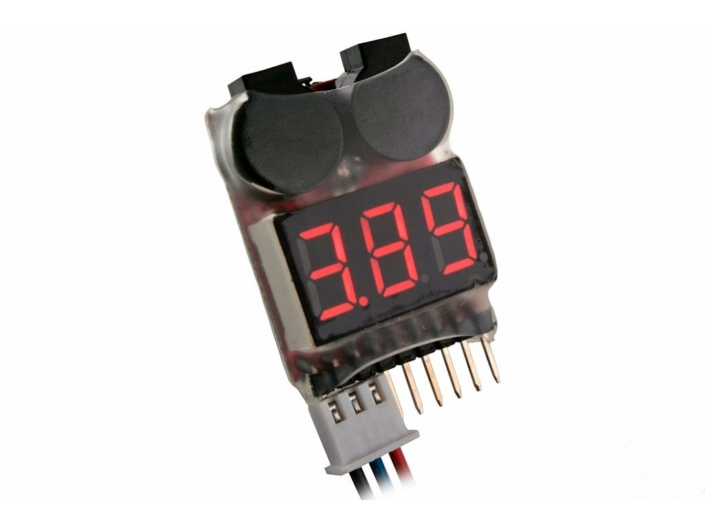 LIPO ALARM 2-8S (7.4V-29.6V) zvuková signalizace napětí