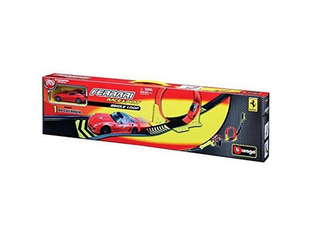 Bburago 1:43 Ferrari Single Loop + 1x auto