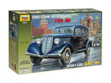 Zvezda sovětské auto GAZ M1 (1:35)