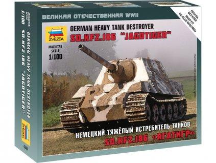 Zvezda Wargames těžká tank d.Kfz.186 Jagdtiger (1:100)