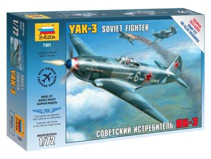 Zvezda Easy Kit Yak-3 Soviet Fighter (1:72)