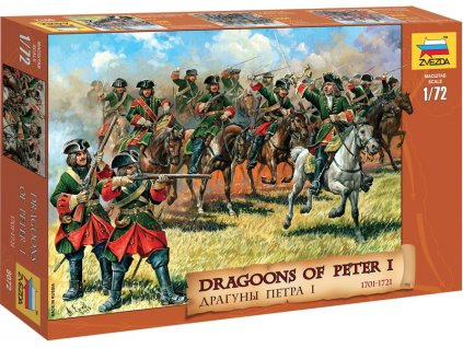 Zvezda figurky Dragoons of Peter the Great (1:72)