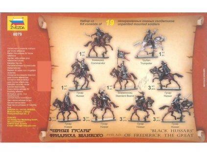 Zvezda figurky Black Hussars (1:72)