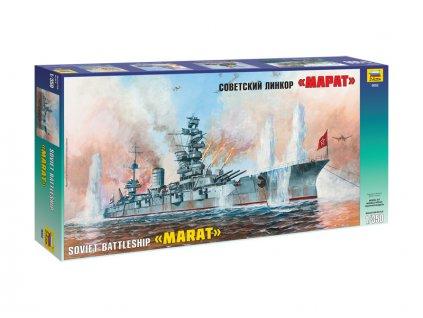 Zvezda Battleship Marat (1:350)