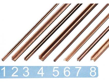 Krick Lišta ořech ozdobná typ 1 2x3x500mm (2)