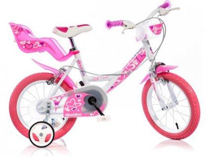 """DINO Bikes - Dětské kolo 16"""" bílé"""