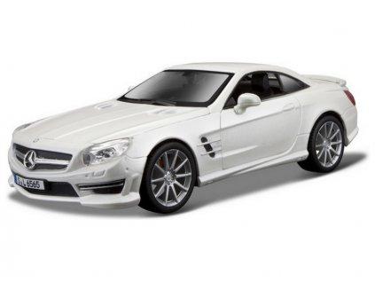 Bburago 1:24 Plus Mercedes-Benz SL 65 AMG bílá