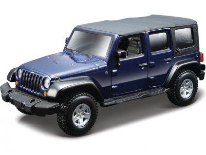 Bburago 1:32 Jeep Wrangler modrá metalíza