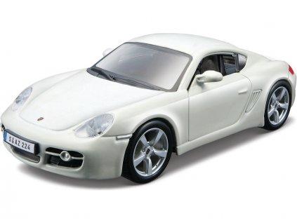 Bburago Kit Porsche Cayman S 1:32 bílá