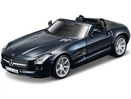 Bburago Kit Mercedes-Benz SLS AMG Roadster 1:32 metalická modrá