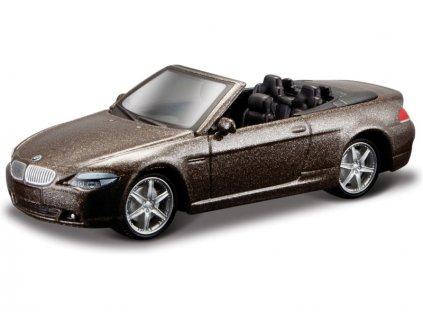 Bburago BMW 645 Ci Cabrio 1:64 metalická hnědá