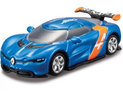 Bburago Alpine A110-50 1:64 metalická modrá