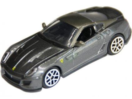 Bburago Ferrari 599 GTO 1:64 metalická šedá