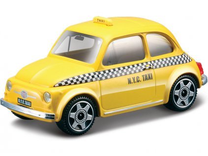 Bburago Fiat 500 Taxi 1:43 žlutá