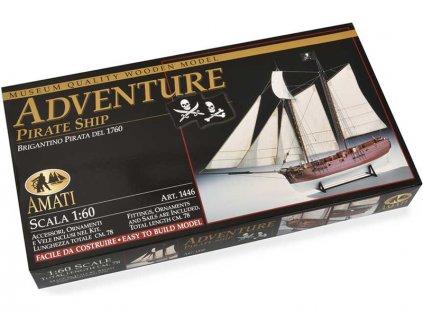 AMATI Adventure pirátská loď 1760 1:60 kit