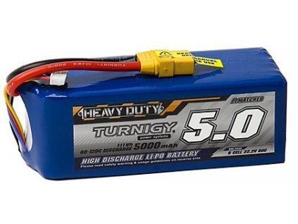 TURNIGY HEAVY DUTY LIPOL 5000mAh 60C 22.2V