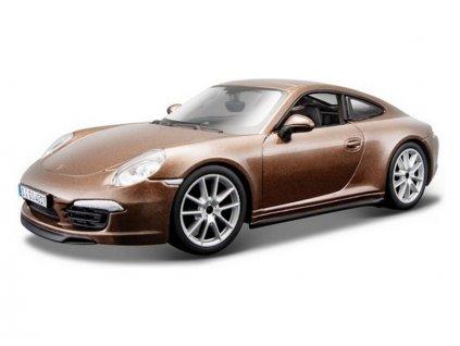 Bburago Plus Porsche 911 Carrera S 1:24 hnědá