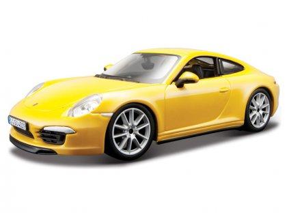 Bburago Plus Porsche 911 Carrera S 1:24 žlutá