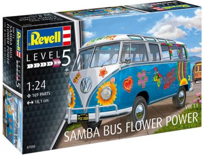 Revell VW T1 Samba Bus Flower Power (1:24)