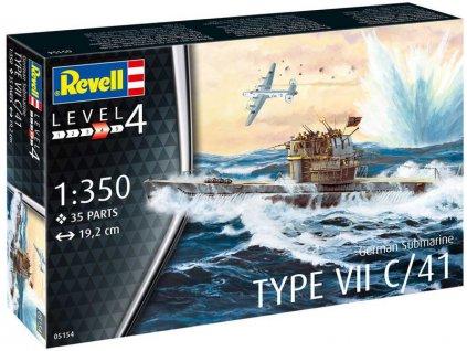 Revell německá ponorka Type VII C/41 (1:350)