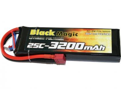 Black Magic LiPol 11.1V 3200mAh 25C Deans