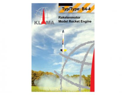 Klima raketový motor B4-4 EL (6ks)