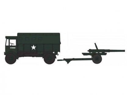 "Airfix AEC Matador s 5.5"" kanónem (1:76) (Vintage)"