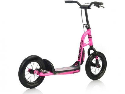 DINO Bikes - Dětská koloběžka růžová