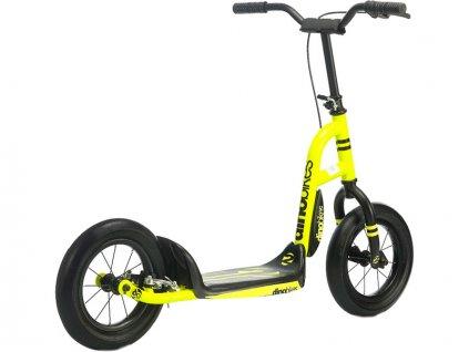DINO Bikes - Dětská koloběžka žlutá