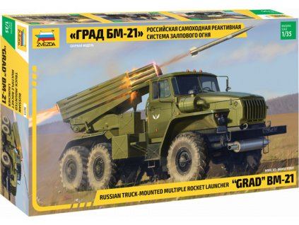Zvezda raketomet BM-21 Grad (1:35)