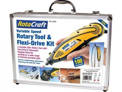 Rotacraft vrtací frézka RC230X se 100 nástroji