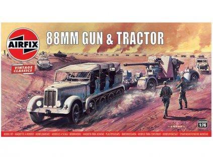 Airfix 88mm Gun s SdKfz7 Tractor (1:76) (Vintage)