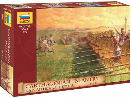 Zvezda figurky - Kartáginská pěchota (1:72)
