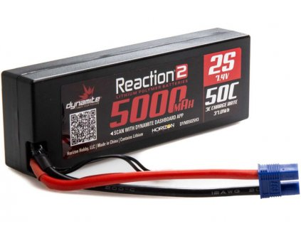 Dynamite LiPo Reaction2 7.4V 5000mAh 50C EC3