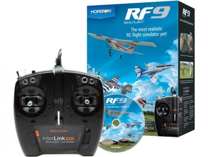 REALFLIGHT 9 SIMULÁTOR + OVLADAČ SPEKTRUM INTERLINK DX