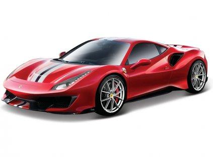 Bburago Signature Ferrari 488 Pista 1:43 červená