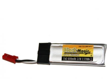 Black Magic LiPol 3.7V 600mAh 25C JST