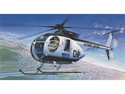 Academy Hughes 500D Police Helicopter (1:48)
