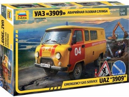 Zvezda UAZ 3909 Emergency gas service (1:43)