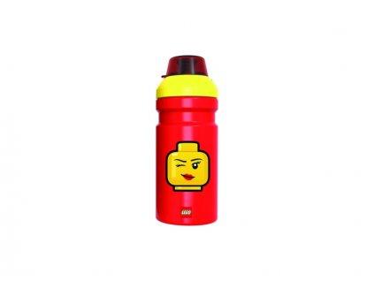 LEGO láhev na pití 0.35L - Iconic Girl červená